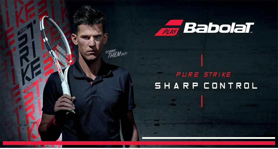 New Babolat Pure Strike Tennis Racquets endorsed by Dominic Thiem