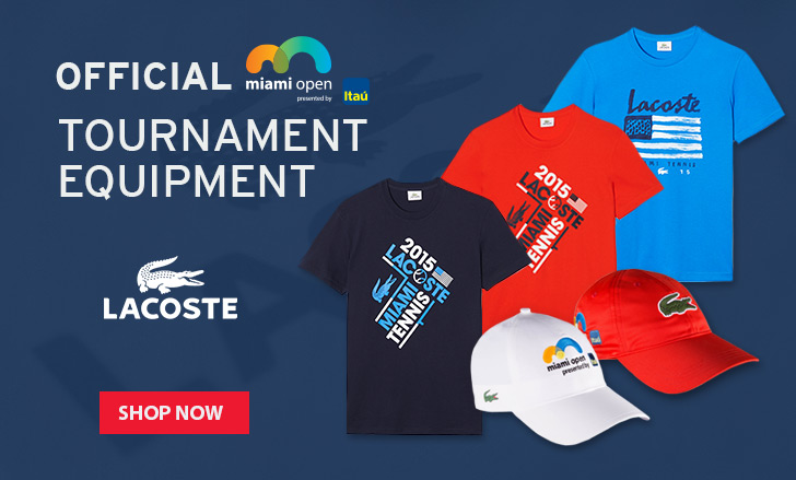 Lacoste 2015 Miami Open Tournament Apparel