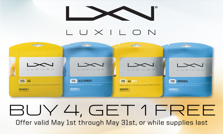 Luxilon String Sets Promotion - Buy 4 Get 1 Free