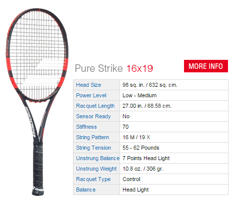 3ff04698a Babolat Pure Strike 16x19 Tennis Racket ...