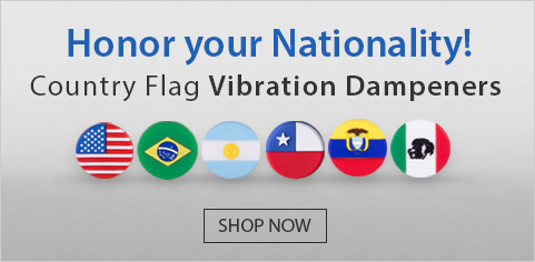 Country Flag Vibration Dampeners