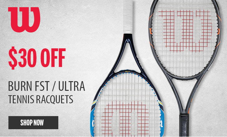 Wilson Burn and Ultra Tennis Rackets