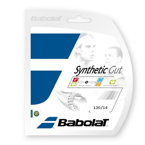 Babolat Synthetic Gut 16 Tennis String Set - White