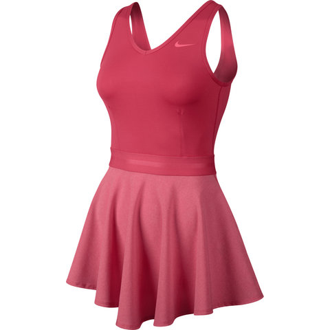 Nike Heathered V- Neck Women's Tennis Dress