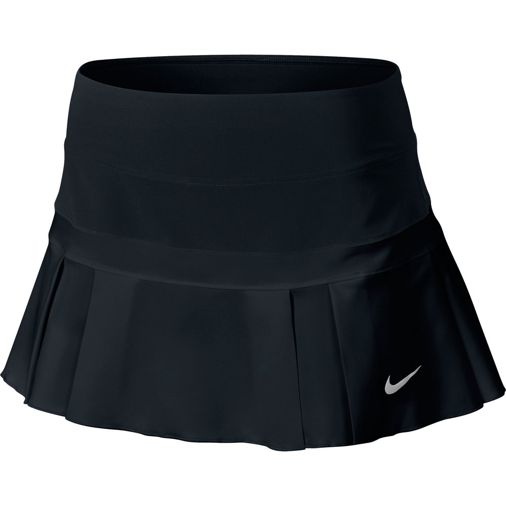 nike woven pleated s tennis skirt black silver