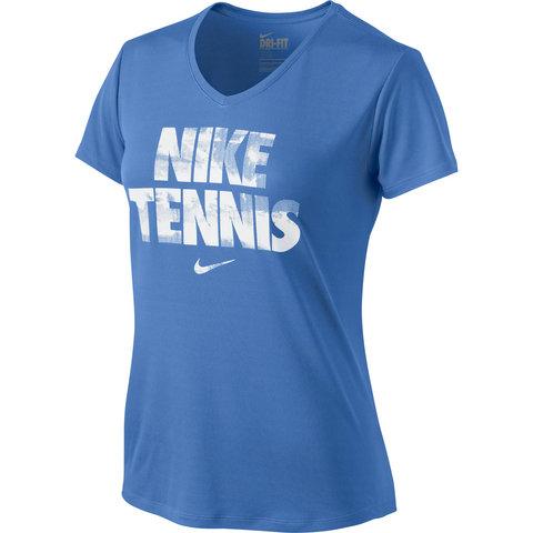 Nike Legend V- Neck Women's Tennis Tee