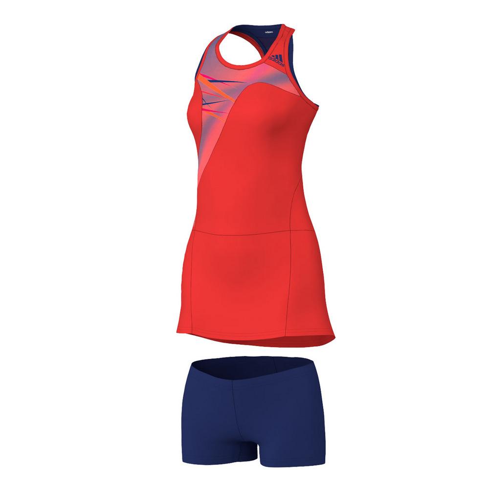 Cool Adidas Womens Adizero Tennis Dress Night Flash And Flash Orange
