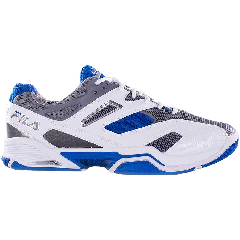 fila sentinel s tennis shoes white blue grey