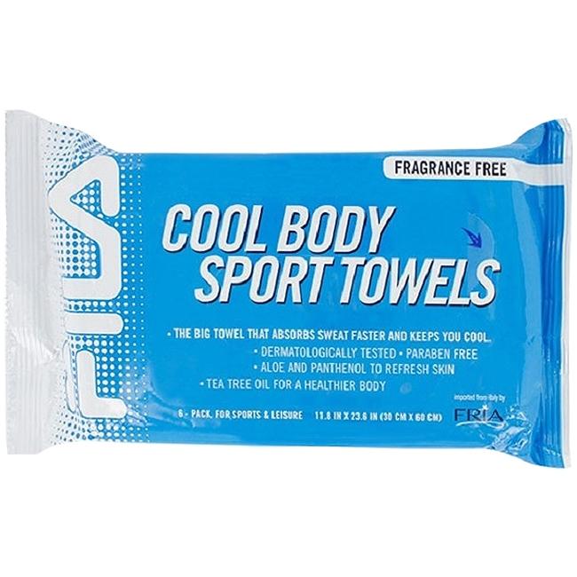 Fila Sports Towel: Fila Cool Body Sport Towel Six Pack