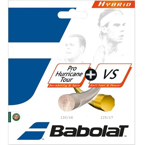 Babolat Pro Hurricane Tour 17 + Vs 16 Tennis String Set