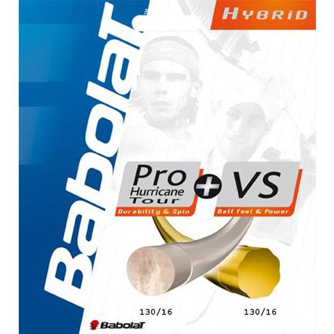 Babolat Pro Hurricane Tour 16 + Vs 16 Tennis String Set