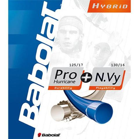 Babolat Pro Hurricane 17 + N.Vy 16 Tennis String Set