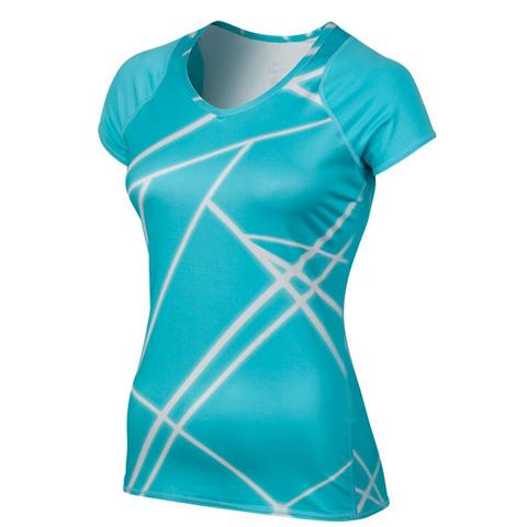 Nike Uv Printed Knit Women's Tennis Top