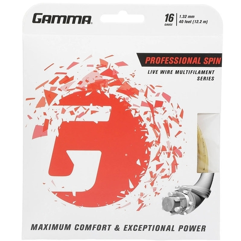 Gamma Professional Spin 16 Tennis String Set
