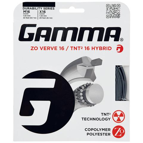 Gamma Zo Verve 16/Tnt2 16 Tennis Hybrid String Set
