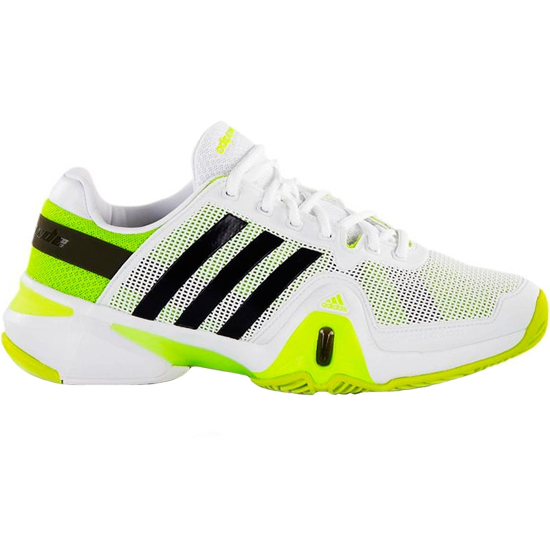 adidas barricade 8 s tennis shoes white silver lime