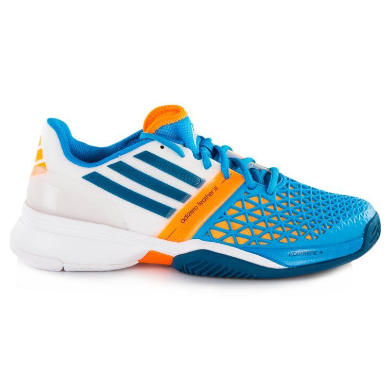 adidas adizero feather iii s tennis shoes blue zest