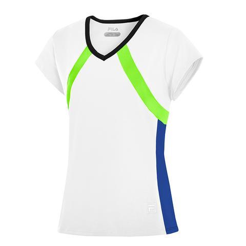 Fila Center Court Cap Sleeve Girl's Tennis Top
