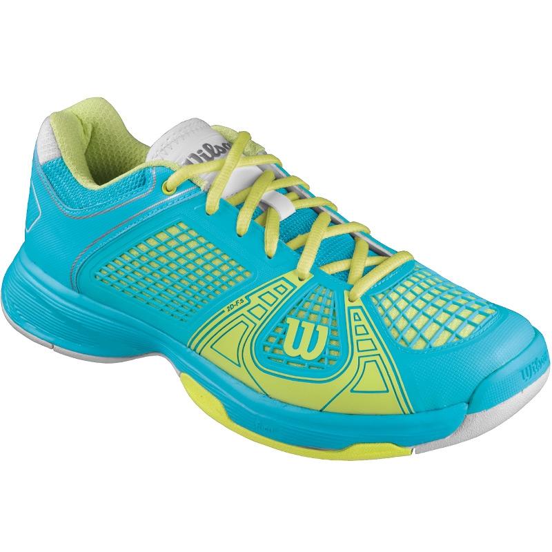 Wilson Women's Tour Spin II Tennis Shoe (White/Silver) from Do It