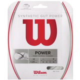 Wilson Synthetic Gut Power 17 Tennis String Set - White