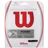 Wilson Synthetic Gut Power 16 Tennis String Set - Black