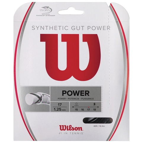 Wilson Synthetic Gut Power 17 Tennis String Set