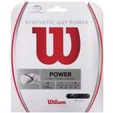 Wilson Synthetic Gut Power 17 Tennis String Set - Black
