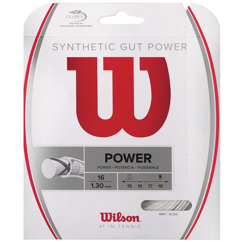 Wilson Synthetic Gut Power 16 Tennis String Set - White