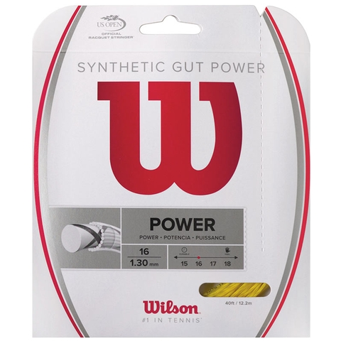 Wilson Synthetic Gut Power 16 Tennis String Set - Gold