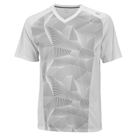 Wilson Solana Geometric V- Neck Men's Tennis Shirt