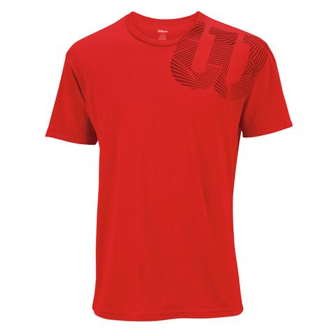 Wilson Geo ' W ' Tech Men's Tennis Shirt