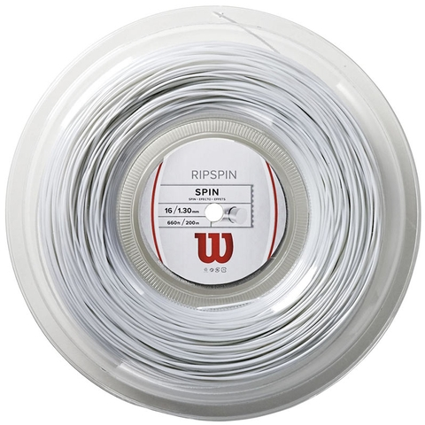 Wilson Ripspin 16 Tennis String Reel - White