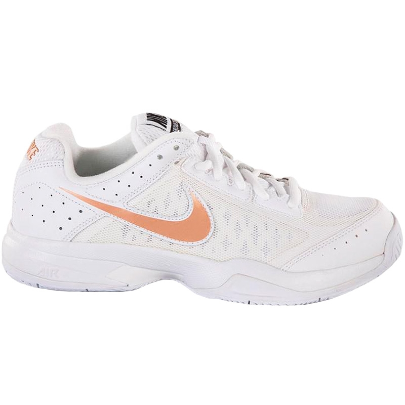nike air cage court s tennis shoe white grey bronze