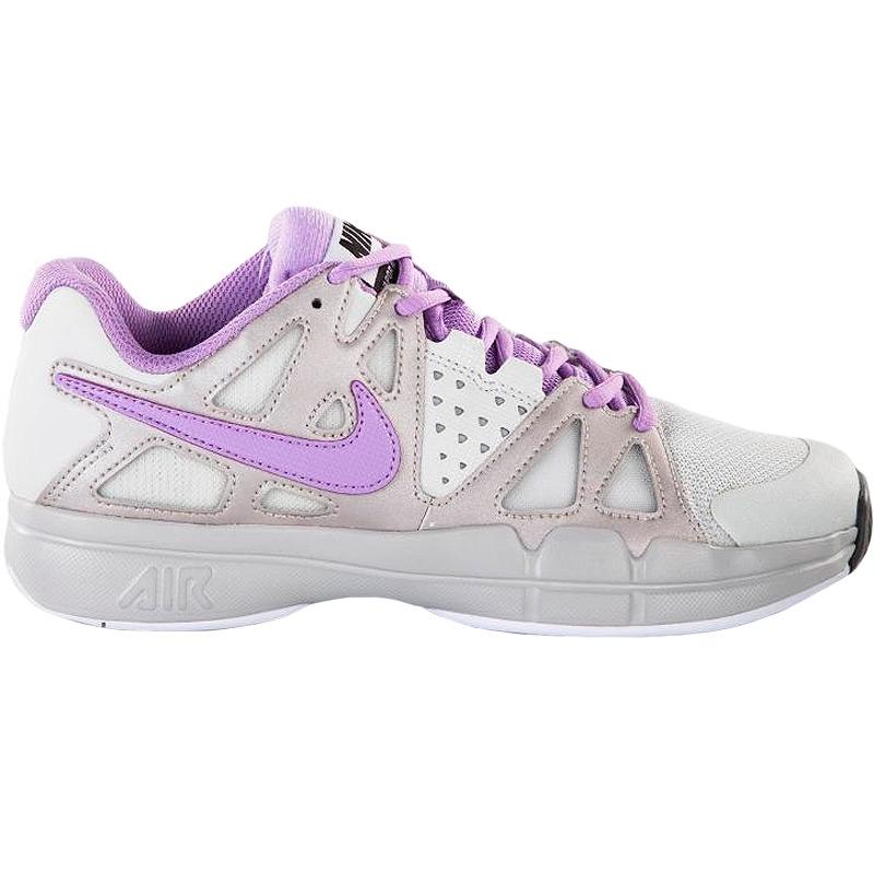 nike air vapor advantage s tennis shoe grey white lilac