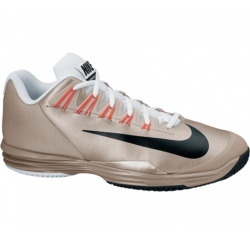 nike lunar ballistec s tennis shoe zinc crimson black
