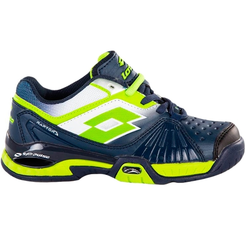 Lotto Raptor Ultra IV Junior Tennis Shoe Aviator/fluogreen