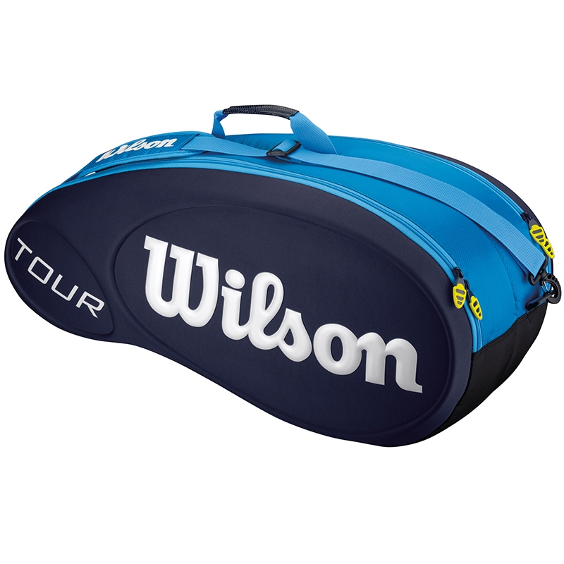 wilson tour 6 pack tennis bag blue