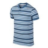 Nike Dri- Fit Touch Stripe Henley Men's Tennis Polo