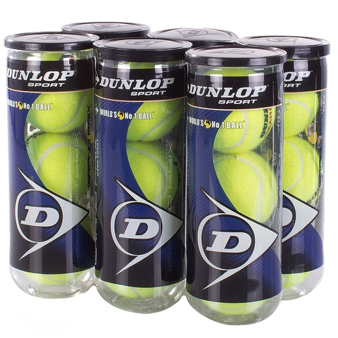Dunlop Grand Prix Hard Court 6 Can Pack Tennis Balls