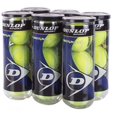 Dunlop Grand Prix Hard Court 6 Can Pack Tennis Balls - 3 Ball Can x 6