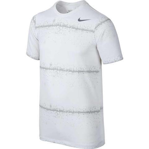 Nike Rally Sphere Stripe Boy's Tennis Crew