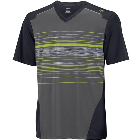 Wilson Specialist Stripe V- Neck Boy's Tennis Shirt