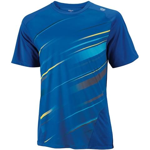 Wilson Cardiff Blur Stripe Men's Tennis Crew