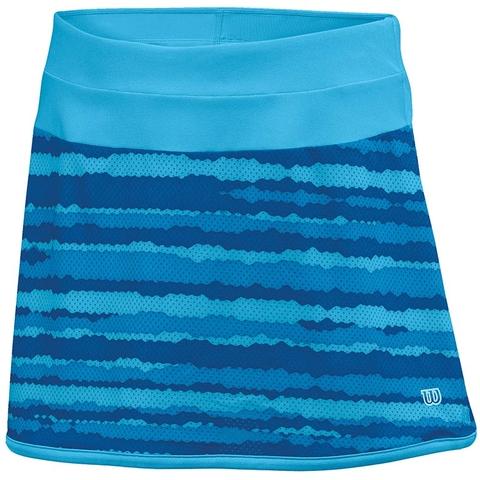 Wilson Cardiff Wavy Print Girl's Tennis Skirt