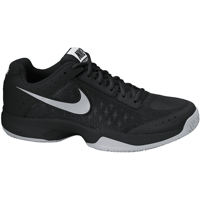 Nike Air Cage Court Junior Tennis Shoe Black/silver