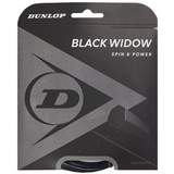 Dunlop Black Widow 16 Tennis String Set - Black