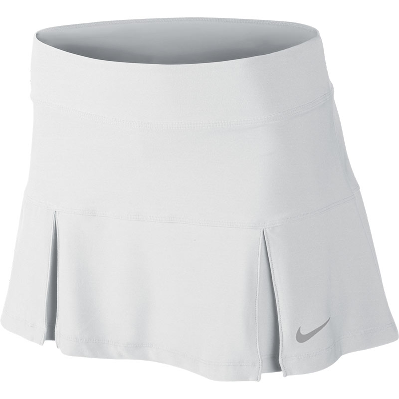 nike four pleated knit s tennis skirt white black