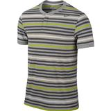 Nike Dri-Fit Touch Stripe Henley Men's Tennis Polo