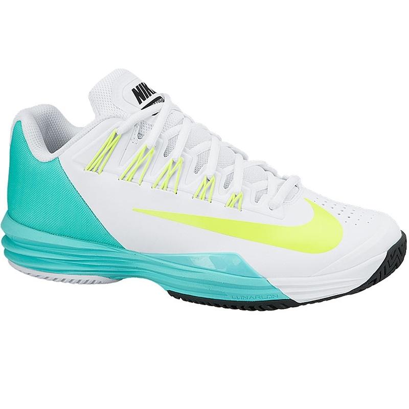 nike lunar ballistec s tennis shoe white turquoise volt