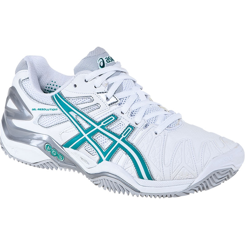 asics gel resolution 5 clay s tennis shoes white